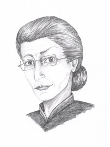 Drawing of Professor McGonagall by shadowycat on DeviantArt