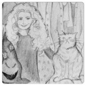 Drawing of Hermione by JK Rowling